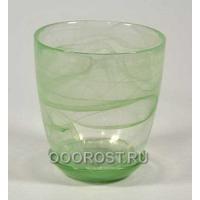 Горшок стеклянный №3 с поддоном Зеленый