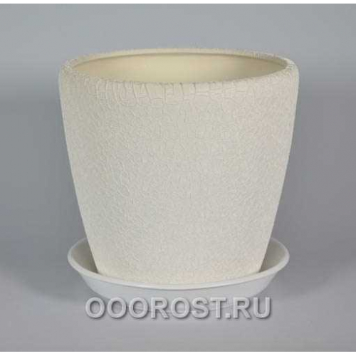 Горшок Грация №2 4,5л d 20см (шелк бел.)