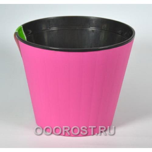 Горшок Ибис с двойным дном 17,9*14,7 роз-черн
