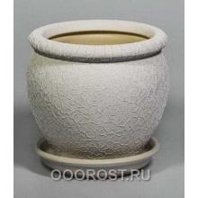 Горшок Вьетнам №3 (Шелк белый), 5л, d24см