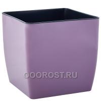 Кашпо Квадро низкое d22, h21см фиолетовое