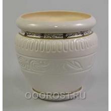 Горшок Амфора белая сакура 7,5л, d24см