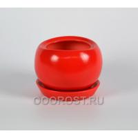 Кашпо Адель №3 (красный) d13см, h12см, v 1,3л