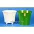 Горшок АРТЕ 2л зелёное золото-белый, d16.5см, h15см