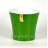 Горшок АРТЕ 1.2л зелёное золото-белый, d13.5см, h12.5см