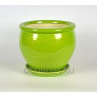 Горшок Вьетнам №2 глянец салатово-золотой 10л, d30см