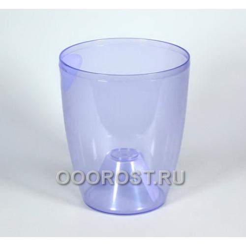 Кашпо Орхидея d18см, h21см фиолетово-прозрачное