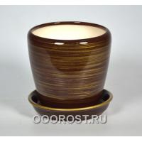 Горшок Грация №4 (глянец шоколад-золото) 1,2л d13,5см