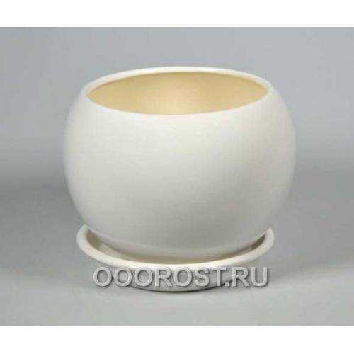 Горшок Шар №2  (глянец Белый)   1,4л  d16см