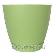 Горшок Камея 1.4л салатовый d13.8см h13см