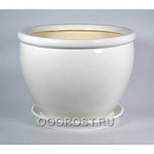 Горшок Вьетнам №1 (глянец Белый) 18л, d37,5см