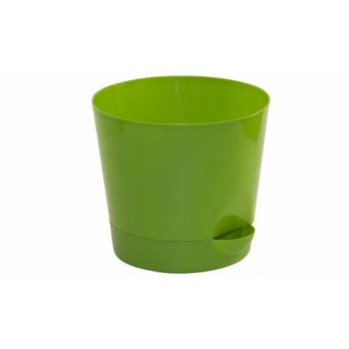 Кашпо Ника с прикорневым полив. D12см, 0,8л. Ярко-Зелен