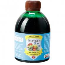 Жидкое удобрение Богатырь Биогумус для овощей и цветов 300мл