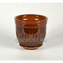 Горшок Болеро №3 коричневый 2л, d16см, h12см