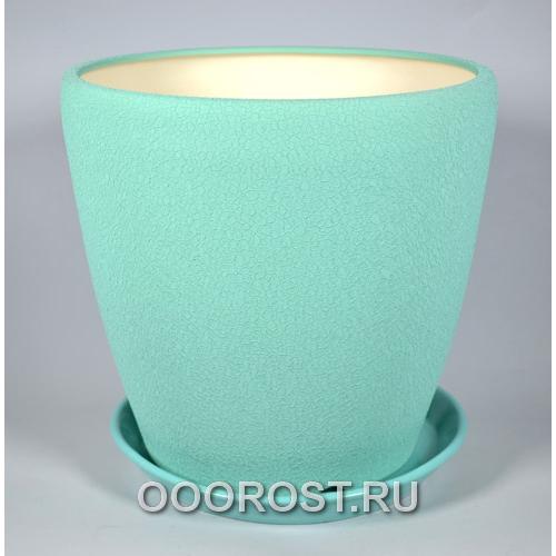 Горшок Грация №1 (шелк бирюза) 10л, d26см, h26см