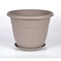 Кашпо Рябина с подставкой D16см, 1.4л серый