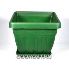 Горшок Ирис квадрат d28см 10,5л (зеленый)