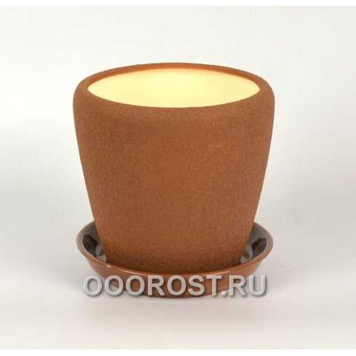 Горшок Грация №3 (шелк молочный шоколад) 2,3л d17см