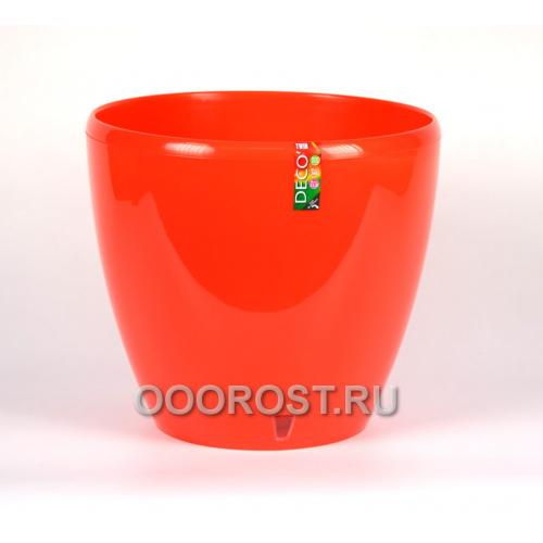 Горшок DECO-TWIN 12л, Морковь, d28.5см, h25.5см + картридж