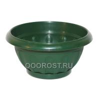 Горшок Ирис круглый с поддоном d20.6см 1.8л зеленый