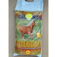 Удобрение органическое Биуд компост конский 5л (в мешках)