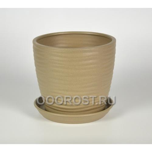 Горшок Грация-Волна №1 крошка капучино 7л, d25, h21см