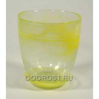 Горшок стеклянный №4 с поддоном Желтый