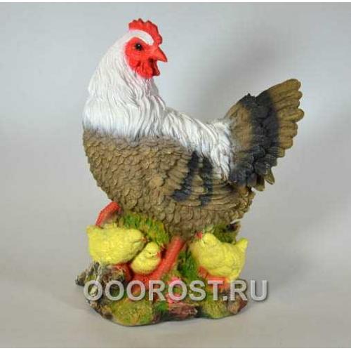 Фигура Курица с цыплятами H 30см.
