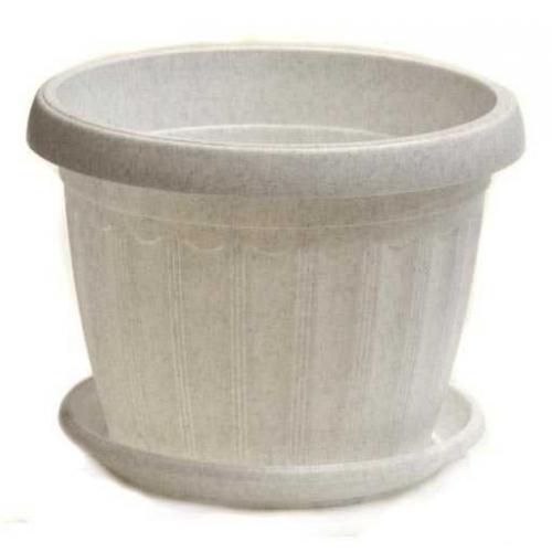 Горшок Терра d08см, h6.5см мраморный