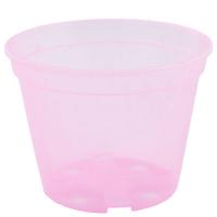 Горшок дренажный d18см розово-прозрачный