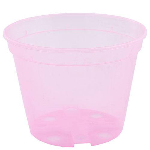 Горшок дренажный d11см розово-прозрачный