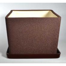Горшок Квадрат №2  (шелк шоколад) 5л, d21,5см, h17см
