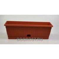 Ящик балконный Терра 100см коричневый