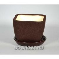 Керамический горшок Ноктюрн №3 шелк шоколад 1,8л d16см