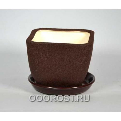 Горшок Ноктюрн №3 (шелк шоколад)  1,8л  d16см