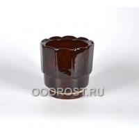 Горшок Франт №3 коричневый 1.2л, d14см, h14см