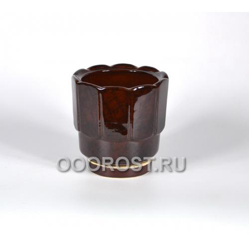 Горшок Франт №3 (коричневый) 1.2л, d14см, h14см