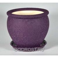 Керамический горшок Вьетнам №3 Шелк фиолетовый, 5л, d24см
