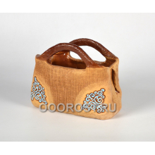Керамическое кашпо Дамская сумка голубая h19см, d23*11см, 2,3л