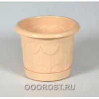 Горшок Тюльпан d10см 0,4л (бежевый)  с поддоном