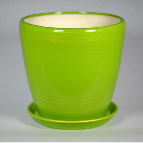 Горшок Грация 20л (Глянец салат-золото) d33см, h31см