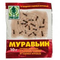 Инсектицид от муравьев Муравьин 10гр