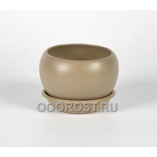 Горшок Шар №3  (крошка капучино)  0,4л  d11см