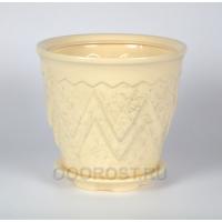 Керамический горшок Арго №1 белый 6 л
