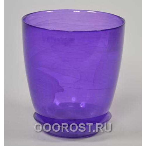 Горшок стеклянный №3 с поддоном крашеный Лиловый