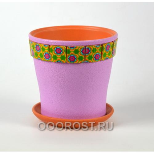 Горшок для цветов Калейдоскоп фиолетовый клен №2  d15см, 1,5л