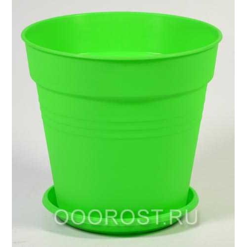 Горшок Глория с поддоном 11*10,2 светло-зеленый