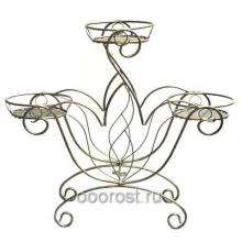 Подставка металлическая для цветов Корона на 3 горшка