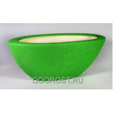 Кашпо Ладья №1 (шелк зеленый) 9 л d 55*21см, h 21см