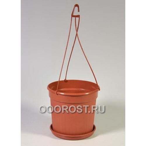 Горшок подвесной Dekor19  d19 h13 v2,1 коричневый